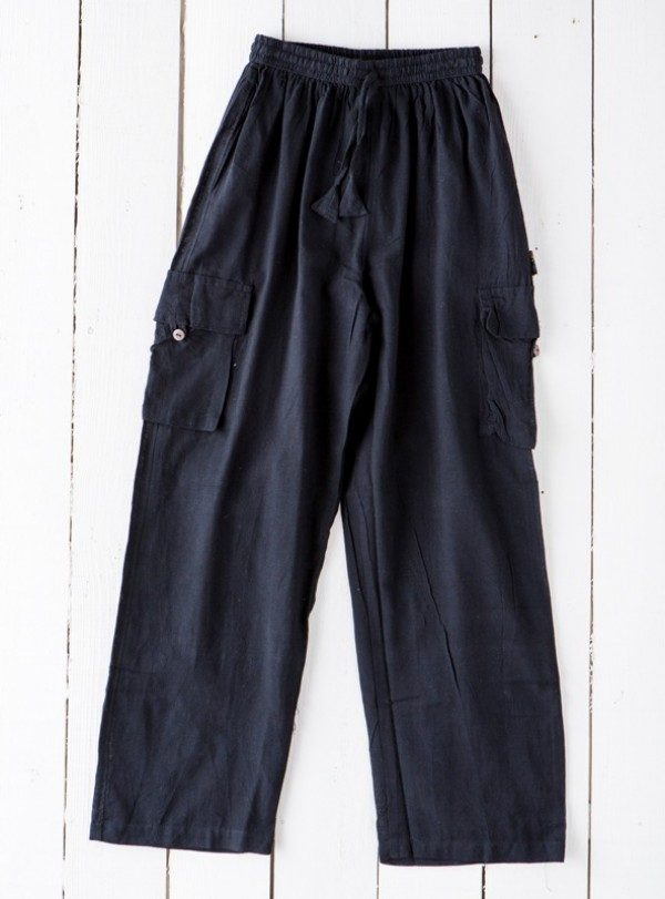 4548f03379 100% Cotton ASSORTED COLOURS Plain Cargo Pocket Trousers Gringo • Hippy  Clothing by Hippy Buddy