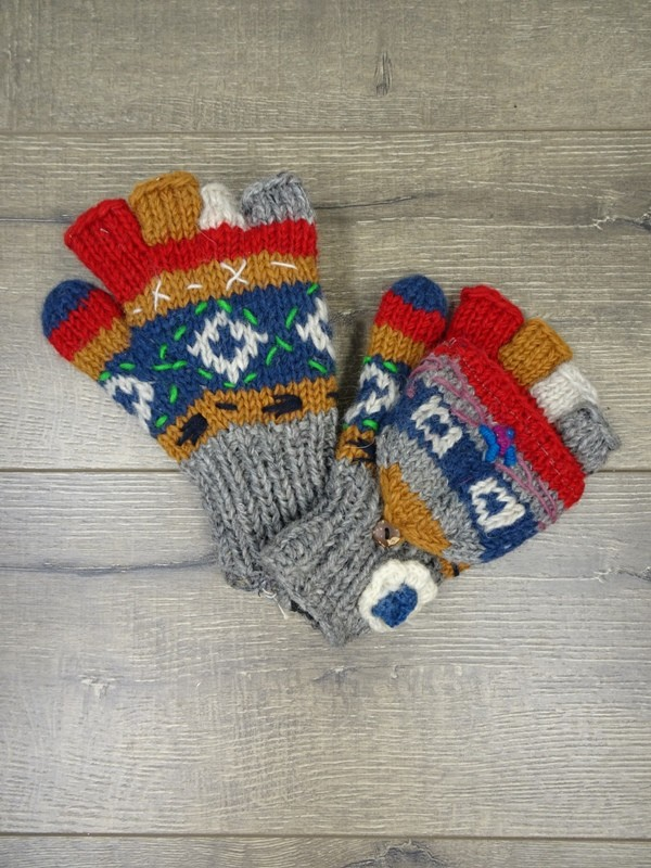 100% Wool Assorted Knit Hunter Gloves Gringo