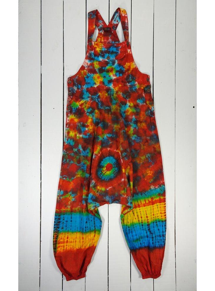 a46ba4a467a67 100% Cotton Tie Dye Harem Dungarees