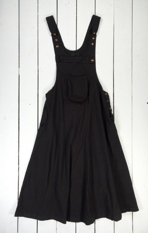 Midi Dungaree Dress - 100% Cotton
