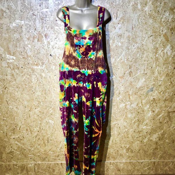 6492f5cd19eb3 Tie Dye Velvet Dungarees by Gringo