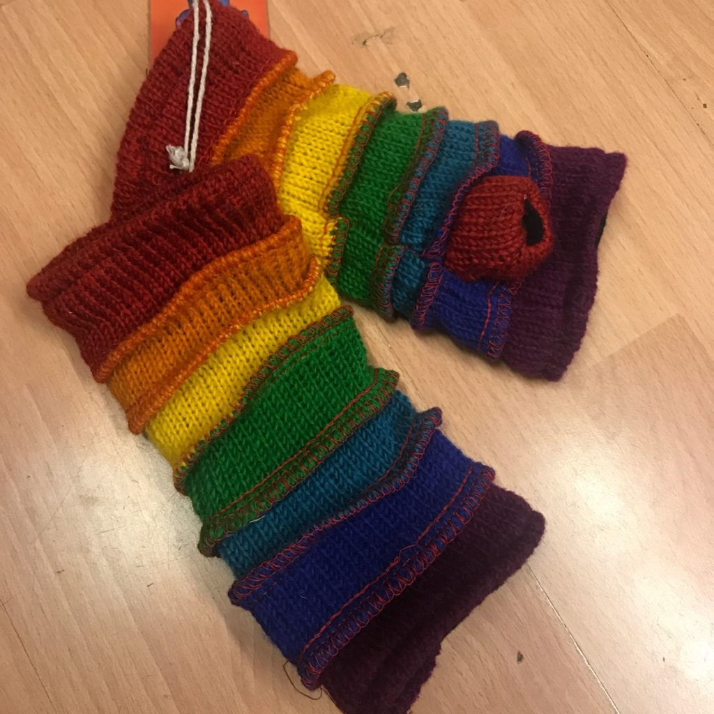 Nepalese Fleece Lined Wristwarmers Assorted Colours