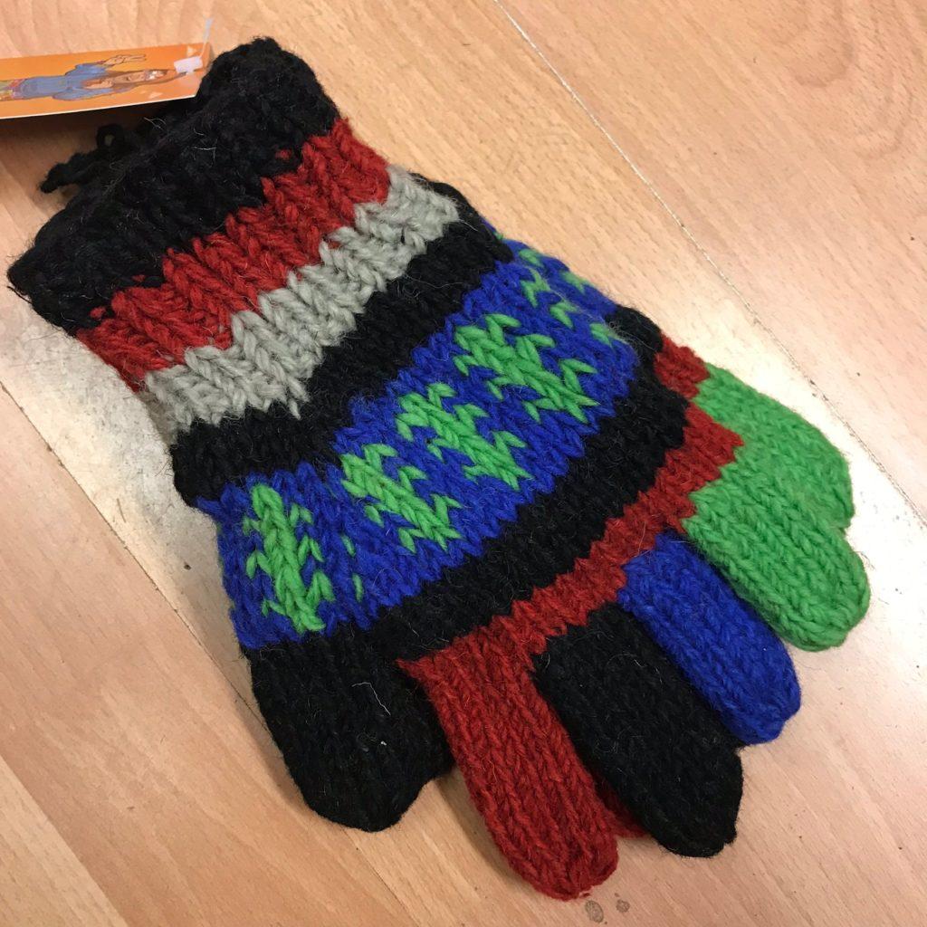Full Finger Assorted Multi Knit Gloves by Little Kathmandu