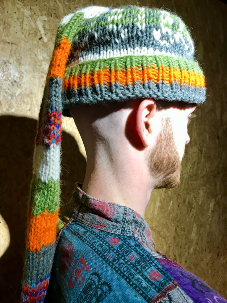 Assorted Wool Hat With Long Scarf Detail