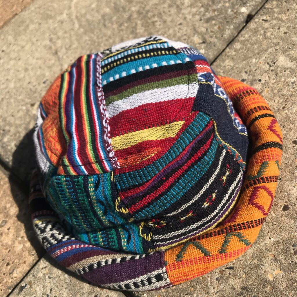 Gheri Cotton Patchwork Rim Hat by Little Kathmandu