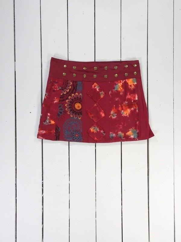 Tie dye short wrap skirt by Gringo