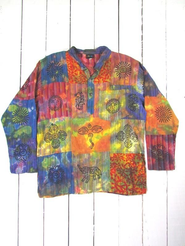 Tie Dye Patchwork Shirt by Gringo