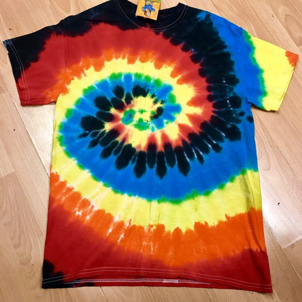 Rainbow Tie Dye Tee Shirt by Hippy Buddy