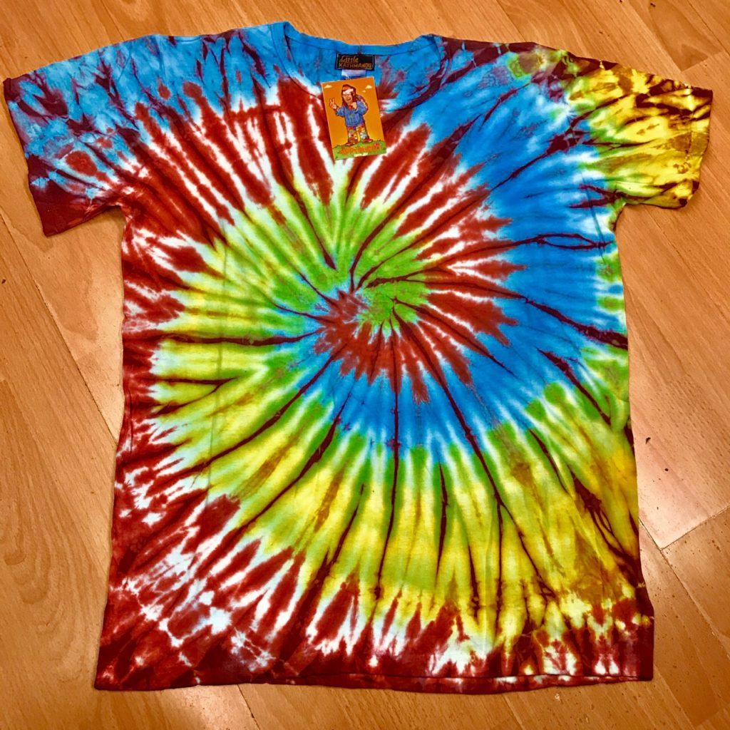 Tie Dye Rainbow Swirl Tee Shirt by Little Kathmandu