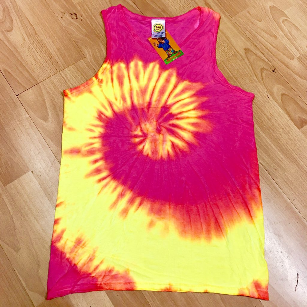 Fluorescent Tie Dye Vest Top by Hippy Buddy