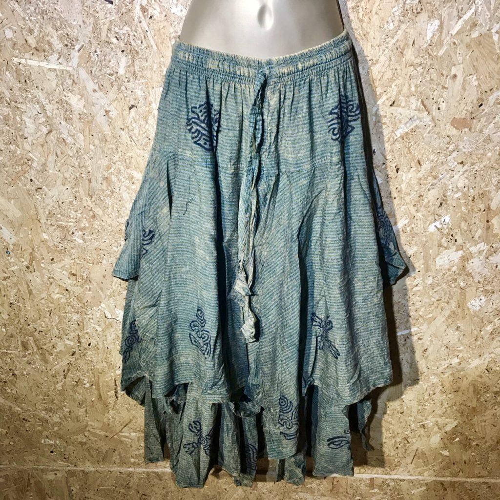 Pinstripe 2 Layer Pointy Hem Skirt by Little Kathmandu