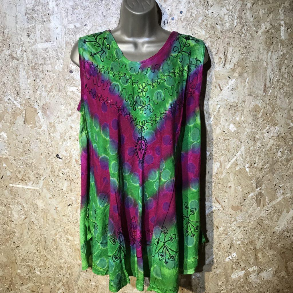 Viscose Tie Dye Tunic-Short Dress by Gringo
