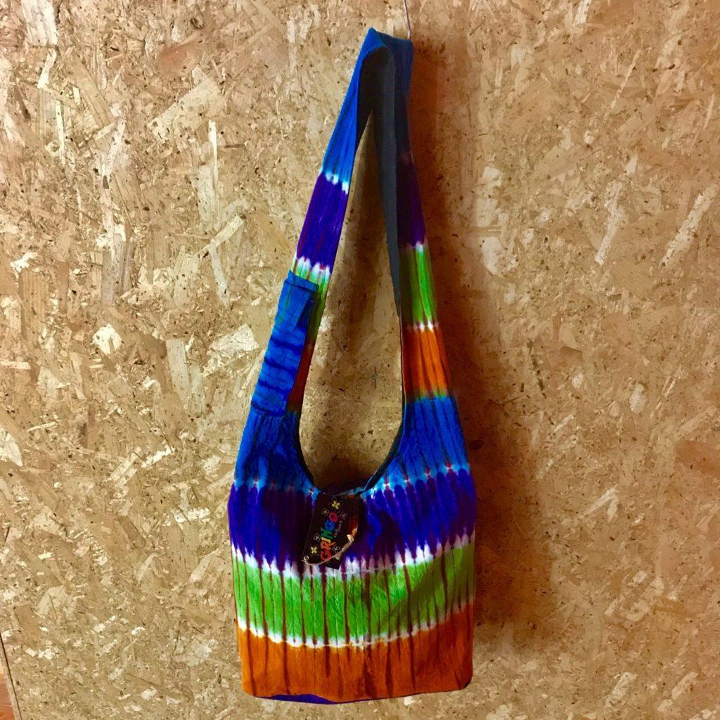 Tie Dye Cotton Shoulder Bag