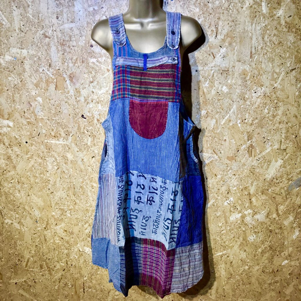 Nepalese Patchwork Dungaree Dress by Little Kathmandu