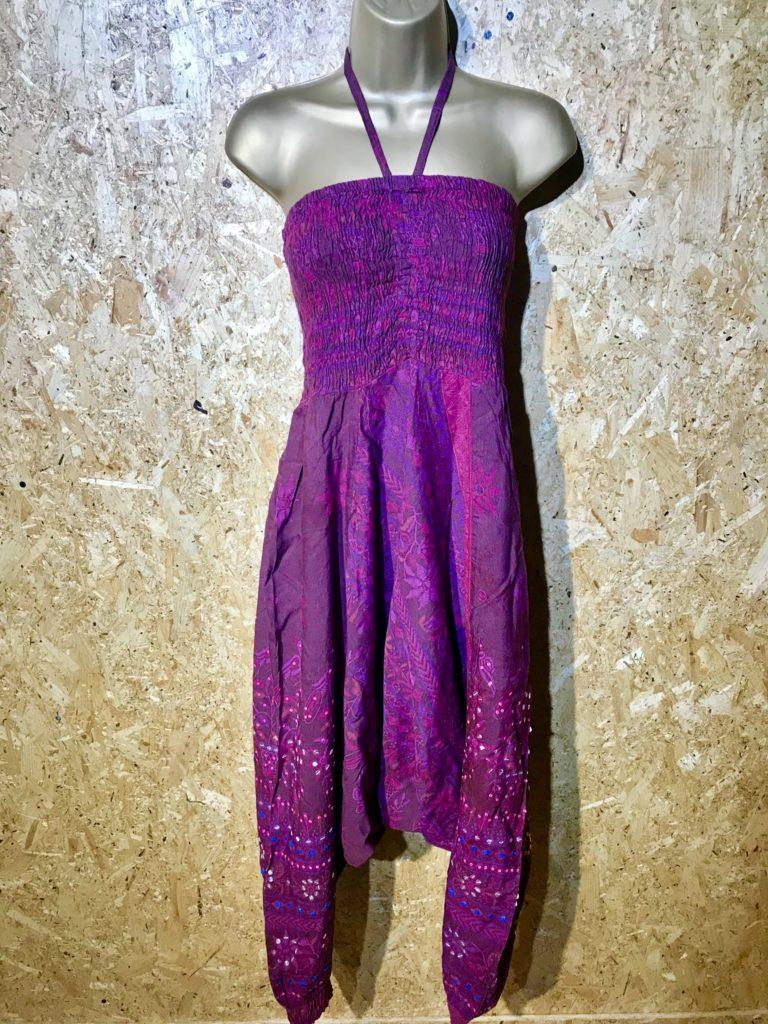 Rayon Sequin Detail Jumpsuit-Harem Pants by Bazaar