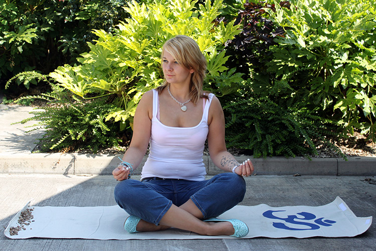 Ohm Yoga Mat in Cotton Bag by Hippy Buddy