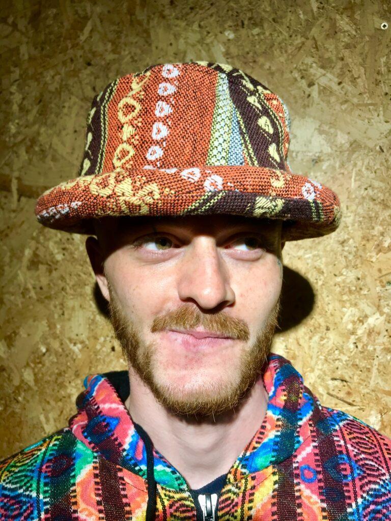 Cotton Gheri Stripe Thick Brim Hat by Gringo