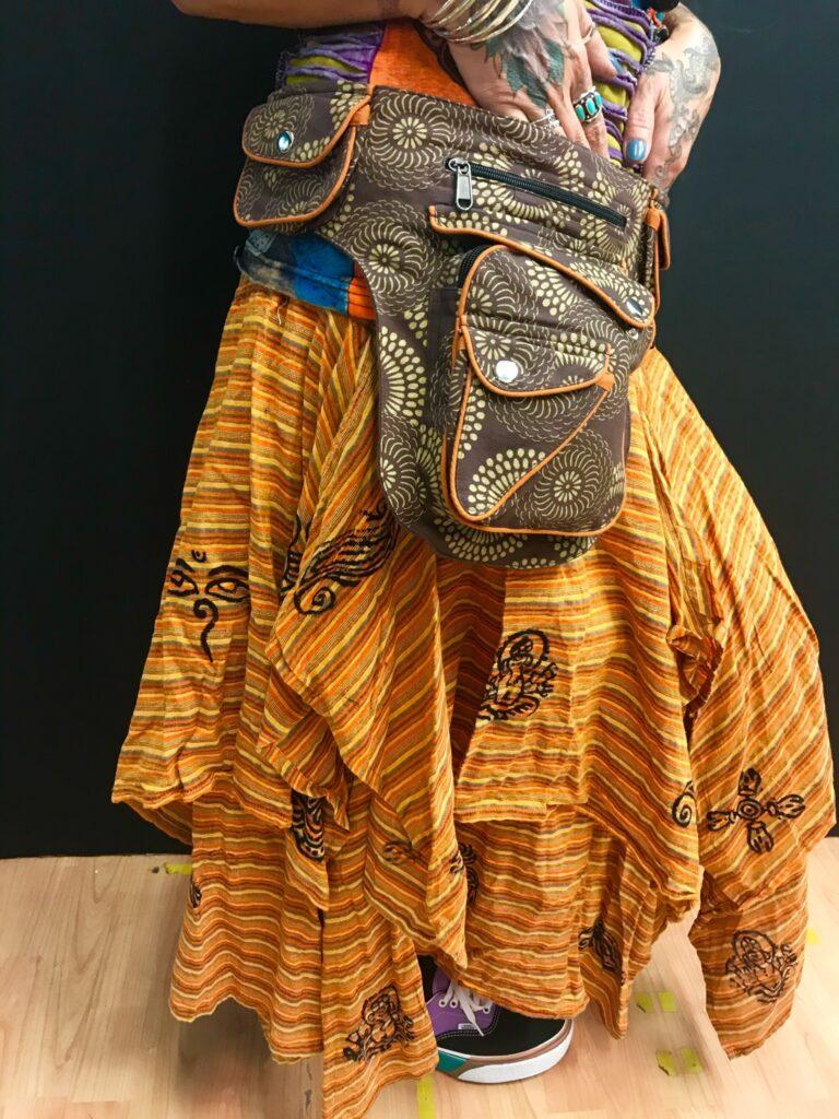 Nepalese Cotton 2 Layered Skirt by Little Kathmandu