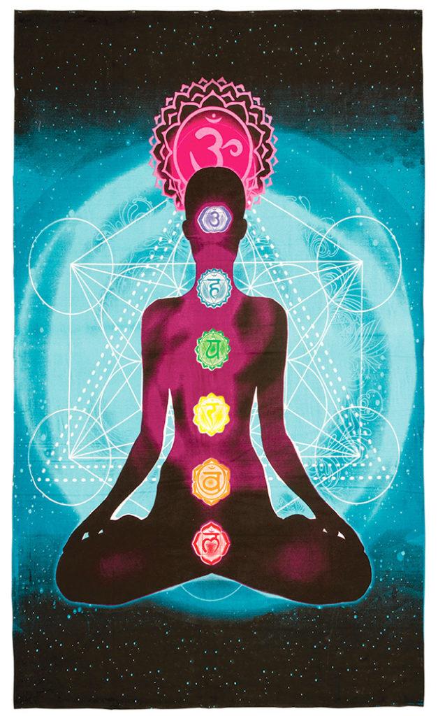 Screen Print Chakra Wallhanging by Namaste