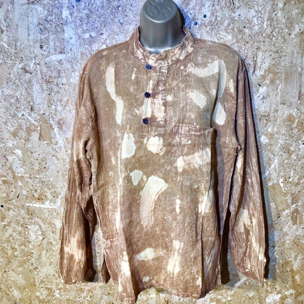Cotton Bleached Out Shirt by Little Kathmandu
