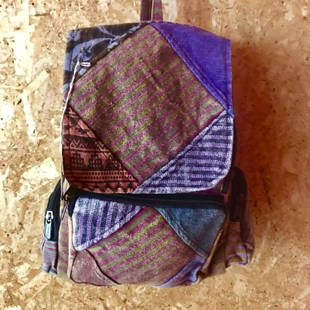 Stonewashed Patchwork Backpack by Gringo