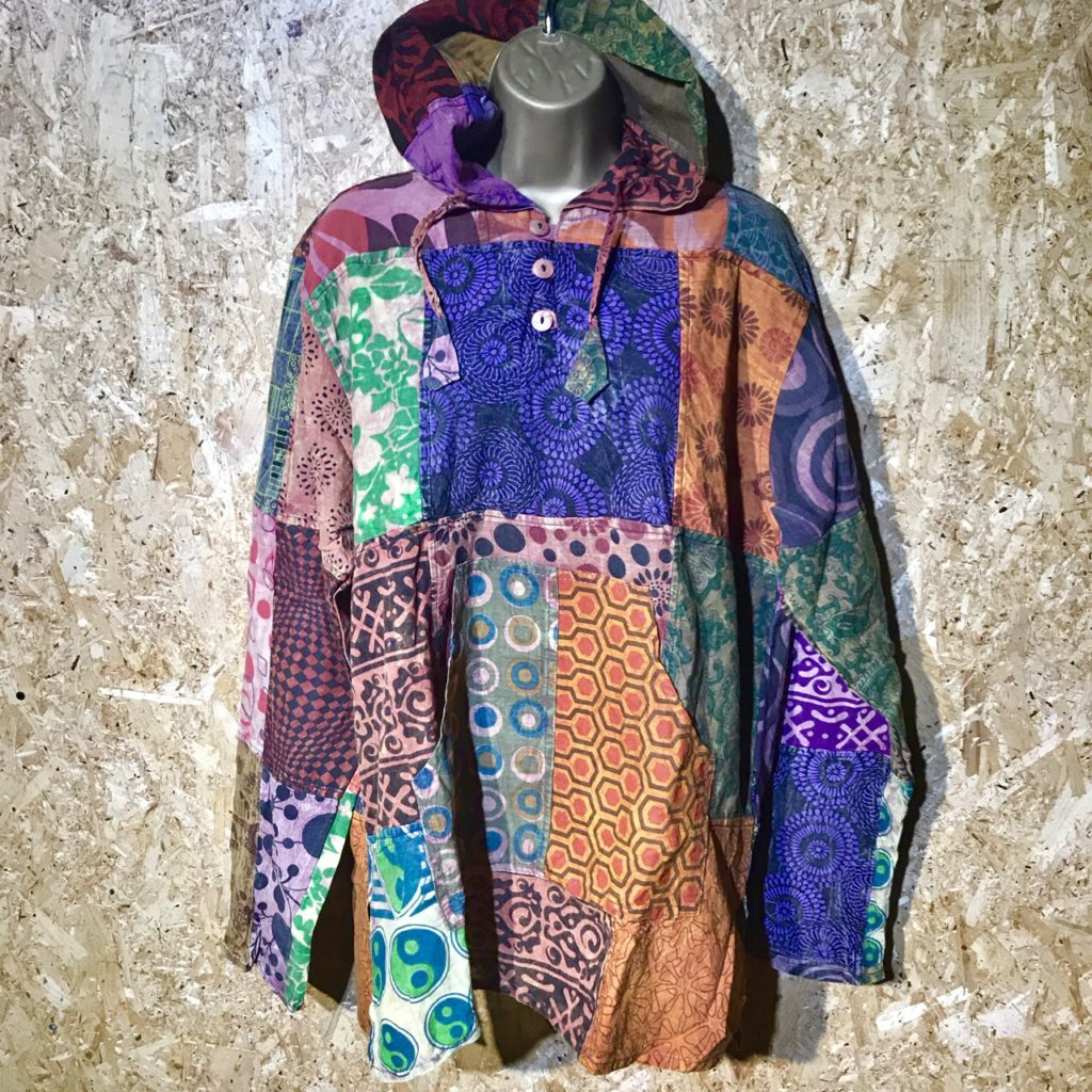 Nepalese Patchwork Hooded Top by Gringo