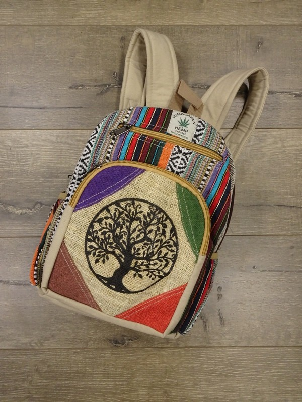 Hemp-Gheri Patchwork Small Backpack by Gringo