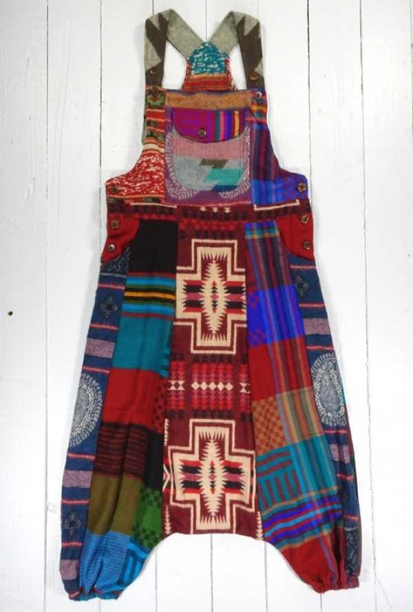Aztec Harem Style Dungarees by Gringo