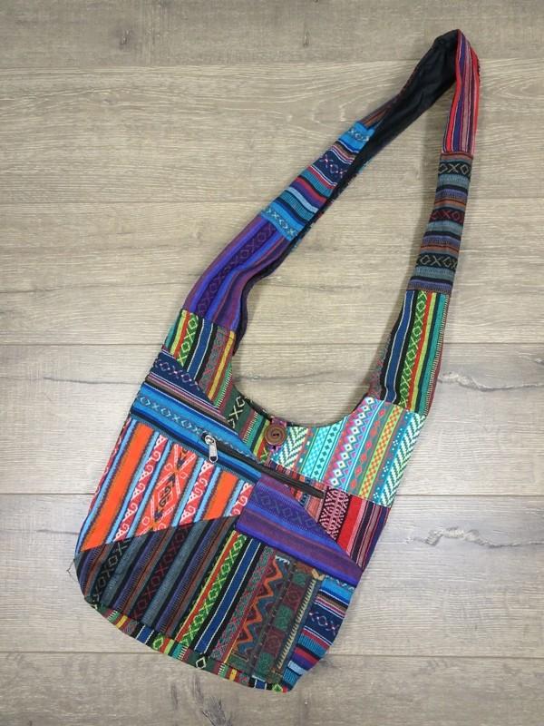 Gheri Cotton Patchwork Shoulder Bag