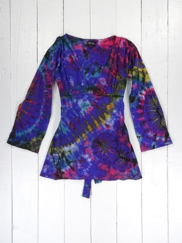 Cotton Sinka Tie Dye Tunic Topp by Gringo