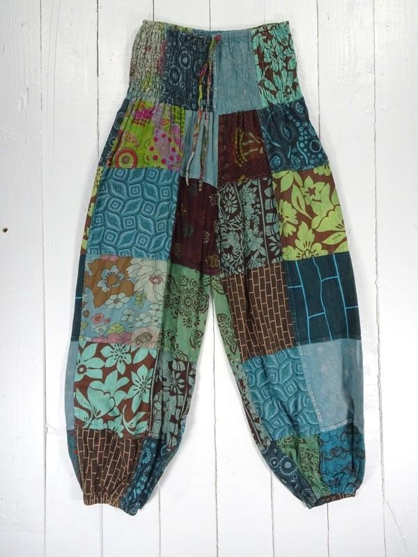 Cotton Aladdin Patchwork Pants by Gringo