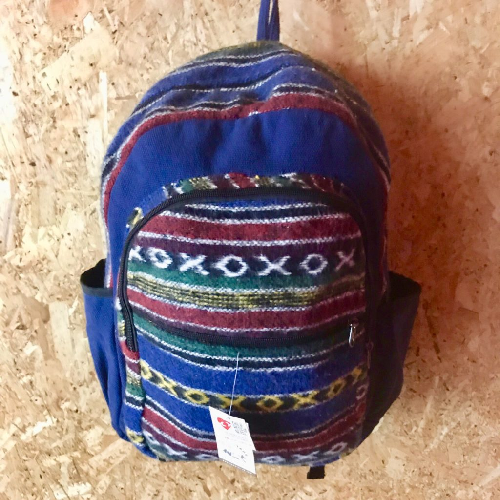 Cotton-Gheri Patchwork Backpack by Namaste