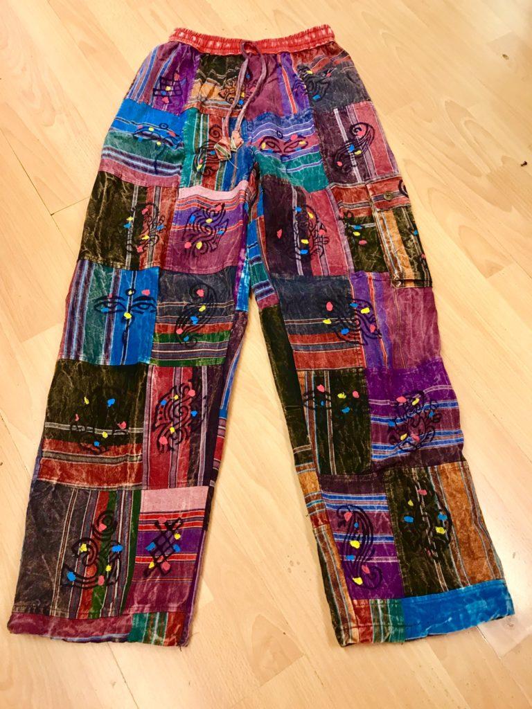 Heavyweight Cotton Patchwork Pants by Little Kathmandu