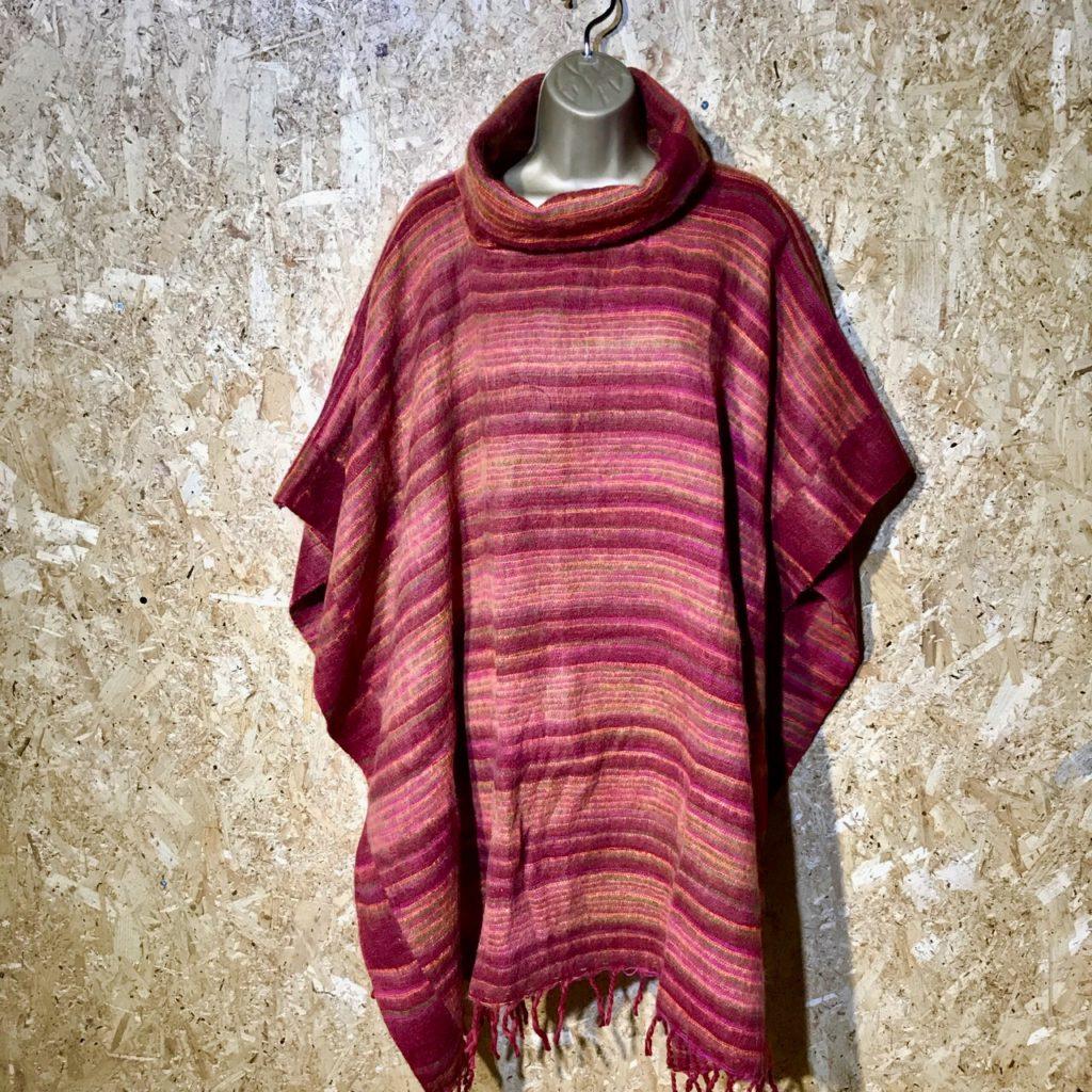 Cashmelon Cowl Neck Poncho by Hippy