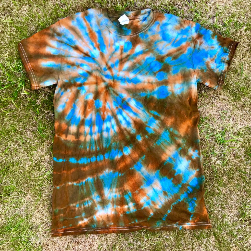 Hippy Buddy Tie Dye Turquoise-Orange Tee Shirt