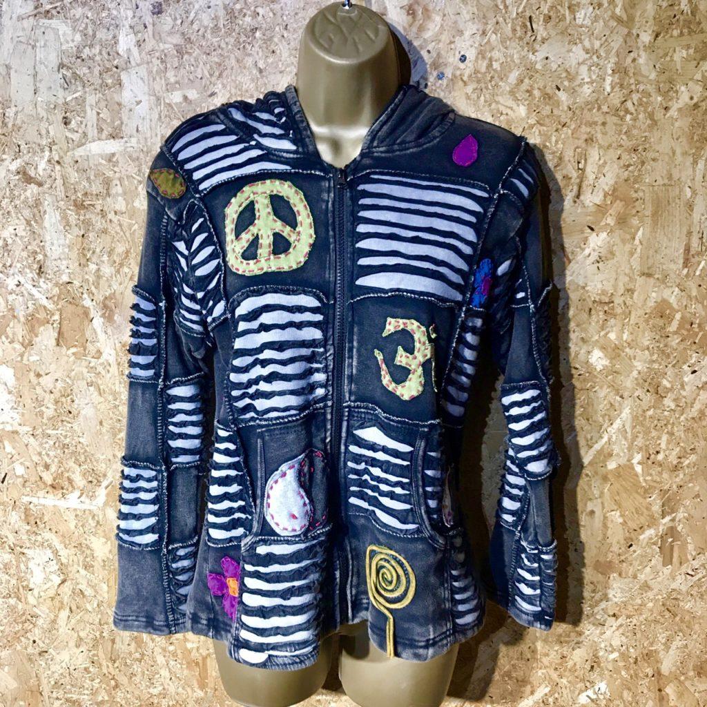 Cotton Rib Fleece Lined Appliqué Jacket by Gringo