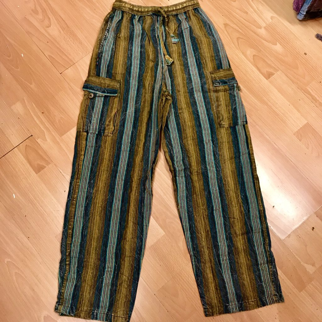 Cotton Woven Nepalese Stripe Pants by Gringo