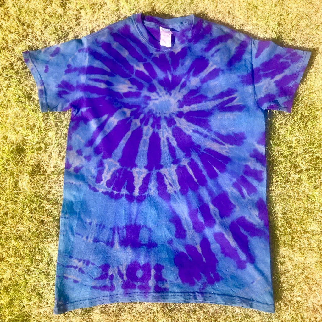 Hippy Buddy Stripped Out Colour Purple Tee Shirt
