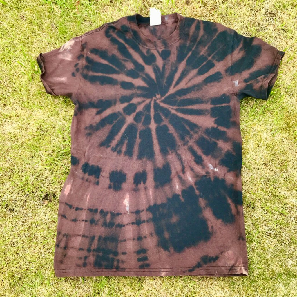 Hippy Buddy Stripped Out Colour Black Tee Shirt