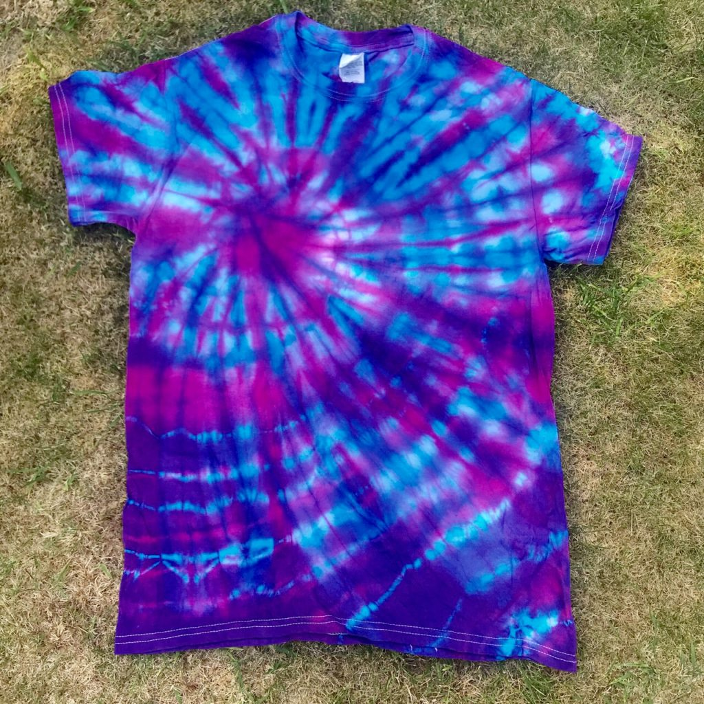 Hippy Buddy Tie Dye Turquoise-Pink Tee Shirt