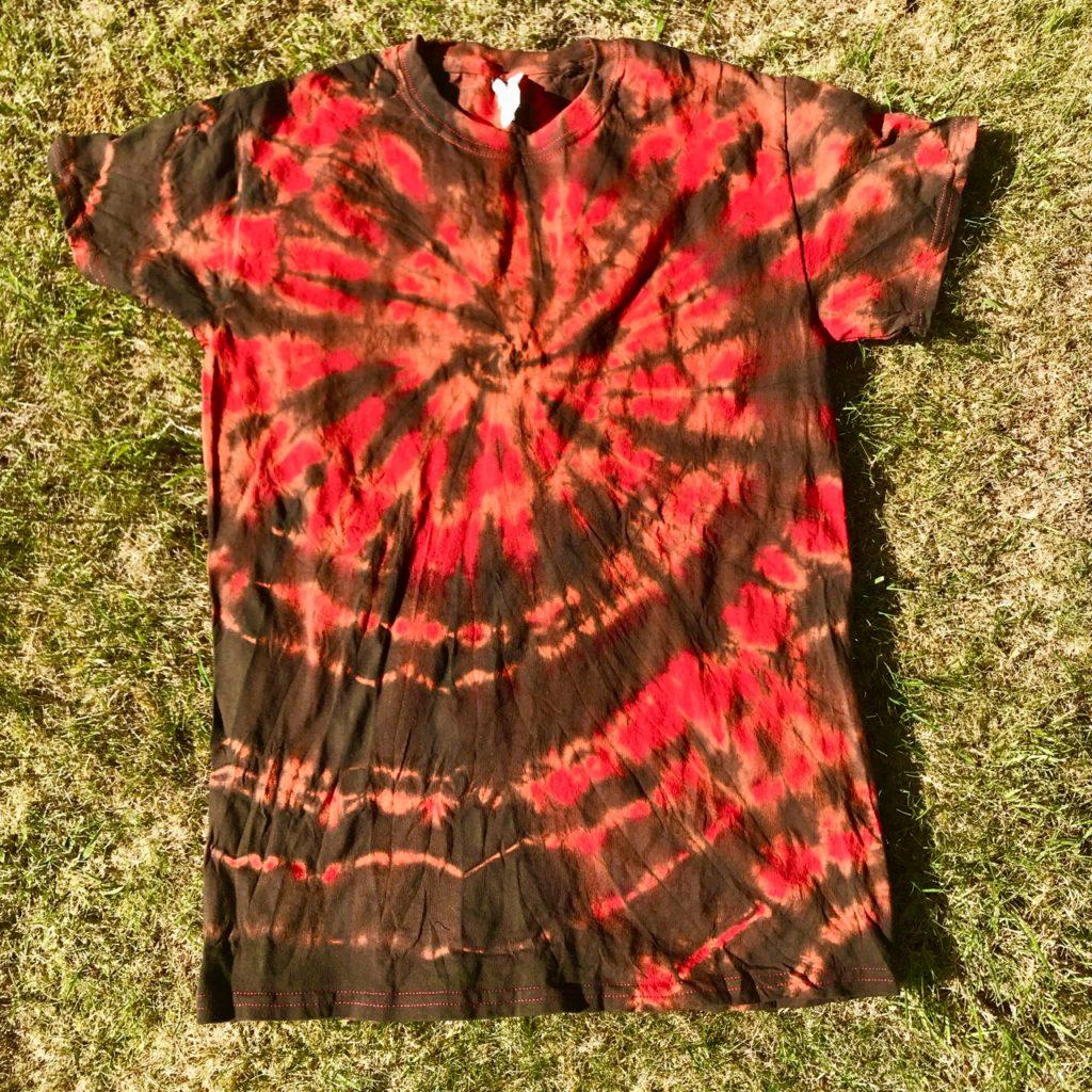 Hippy Buddy Tie Dye Red-Brown Tee Shirt