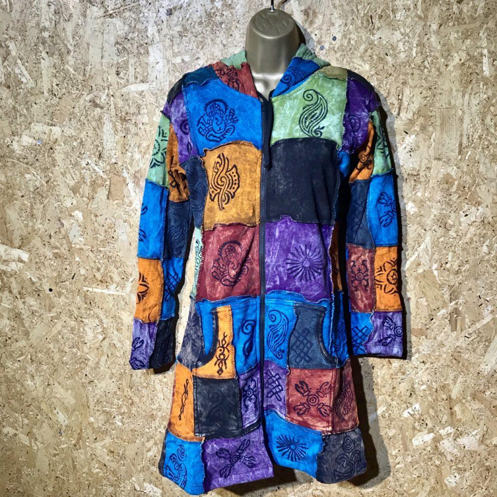Fleece Lined Patchwork Coat by Little Kathmandu