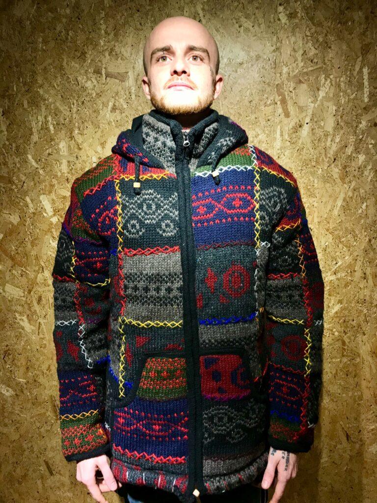 100% Wool Fleece Lined Funnel Neck Jacket by Little Kathmandu