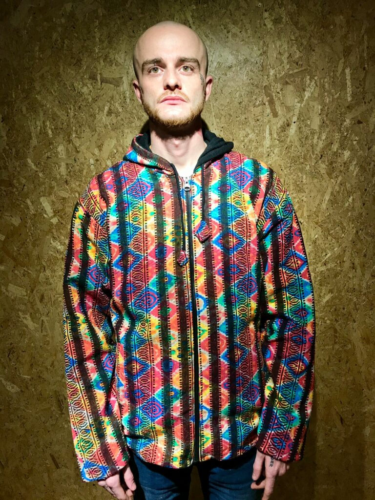 Gheri Tie Dye Rainbow Fleece Lined Jacket by Little Kathmandu