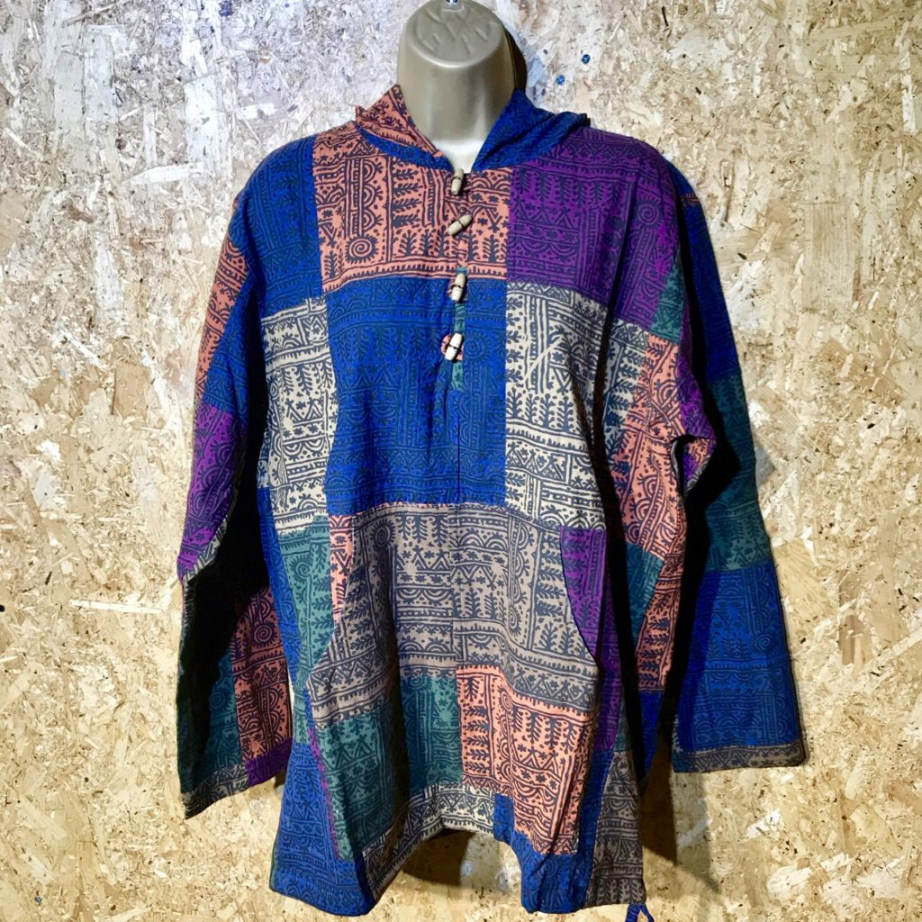 Cotton Hooded Top With Thai Print by Namaste