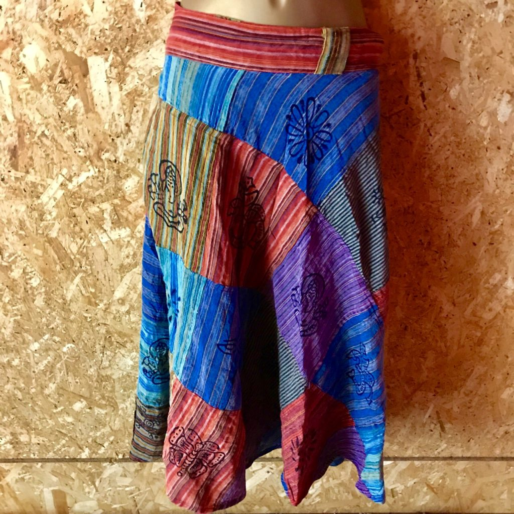 Nepalese Patchwork Wrap Skirt by Namaste