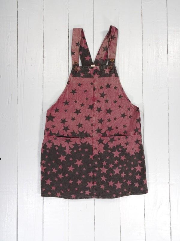 Cotton Short Dungaree Dress by Gringo