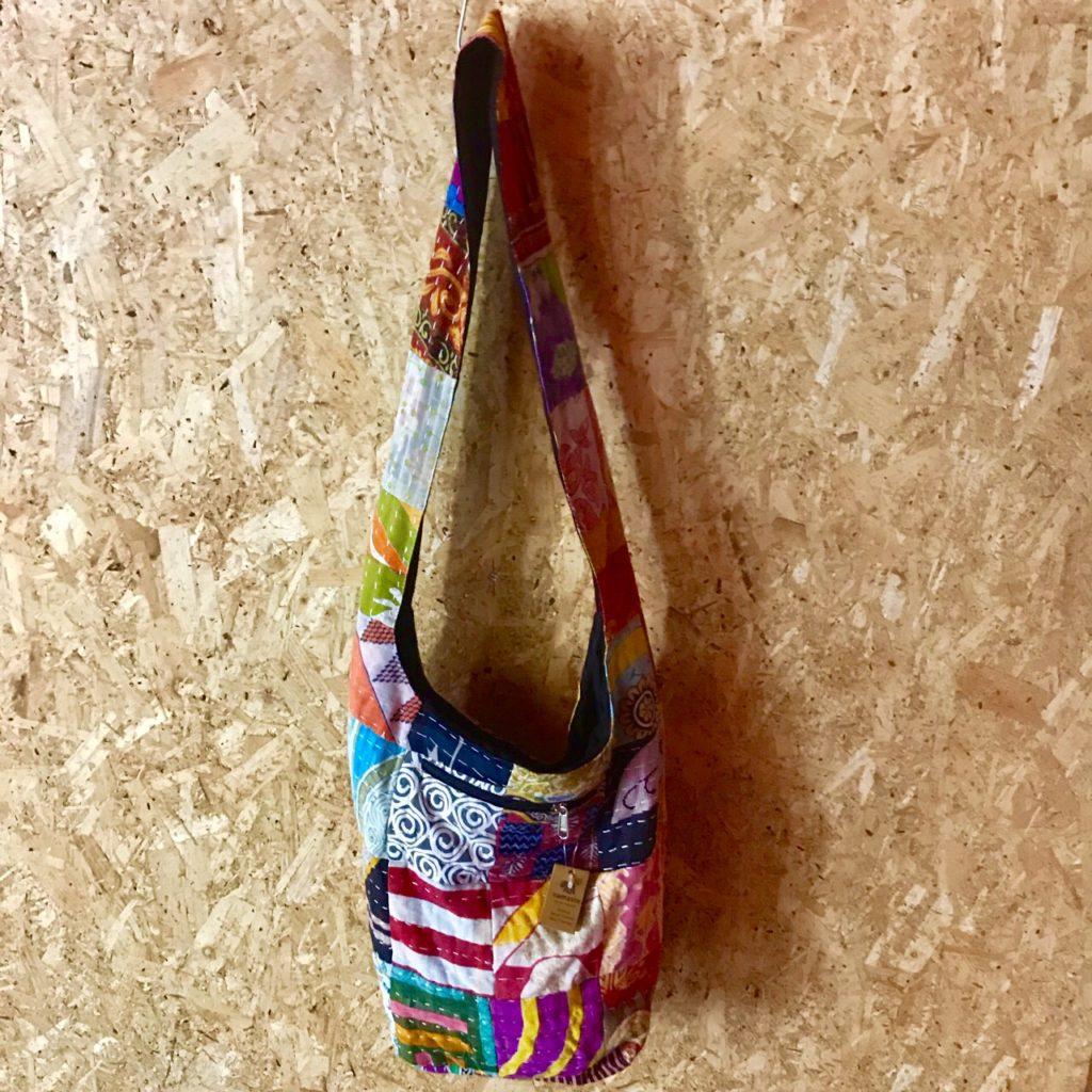 Cotton Patchwork Kantha Stitch Shoulder Bag