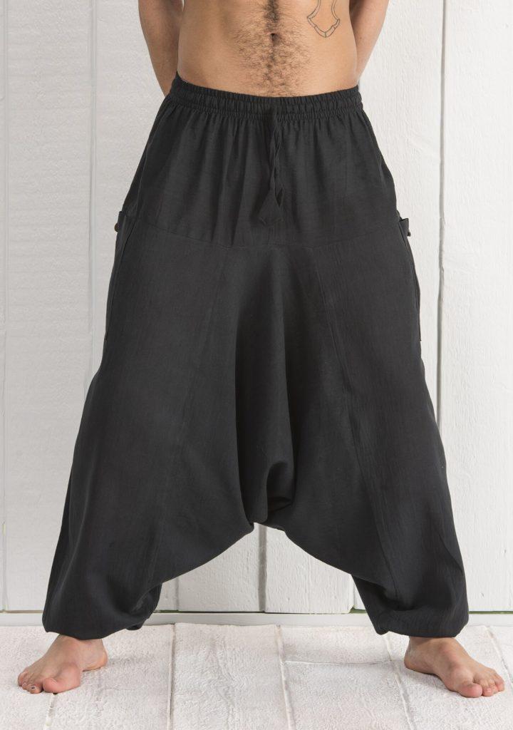 Cotton Plain Harem Pants by Namaste