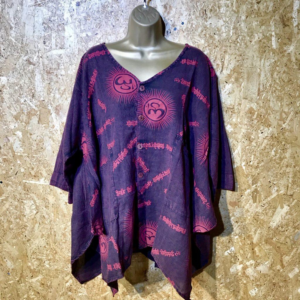 Cotton Tunic Ohm Print Top by Gringo
